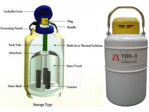 Extended-time storage YDS/ liquid nitrogen container